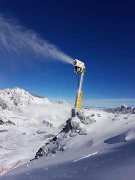 Turbínové snežné delo