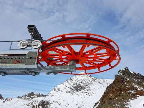 Vratné koleso na vrchole