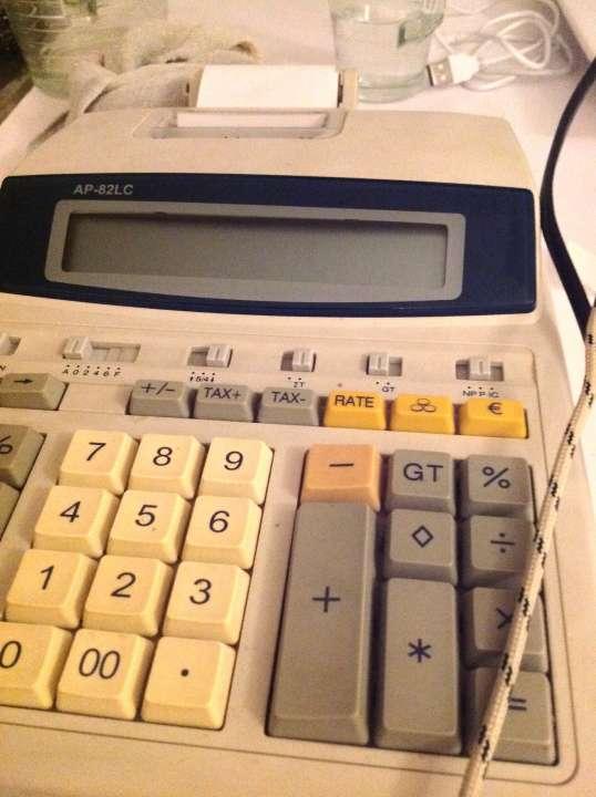 Kalkulačka s tlačou