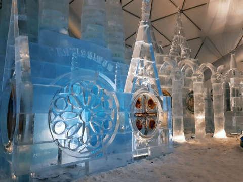ľadové sochy