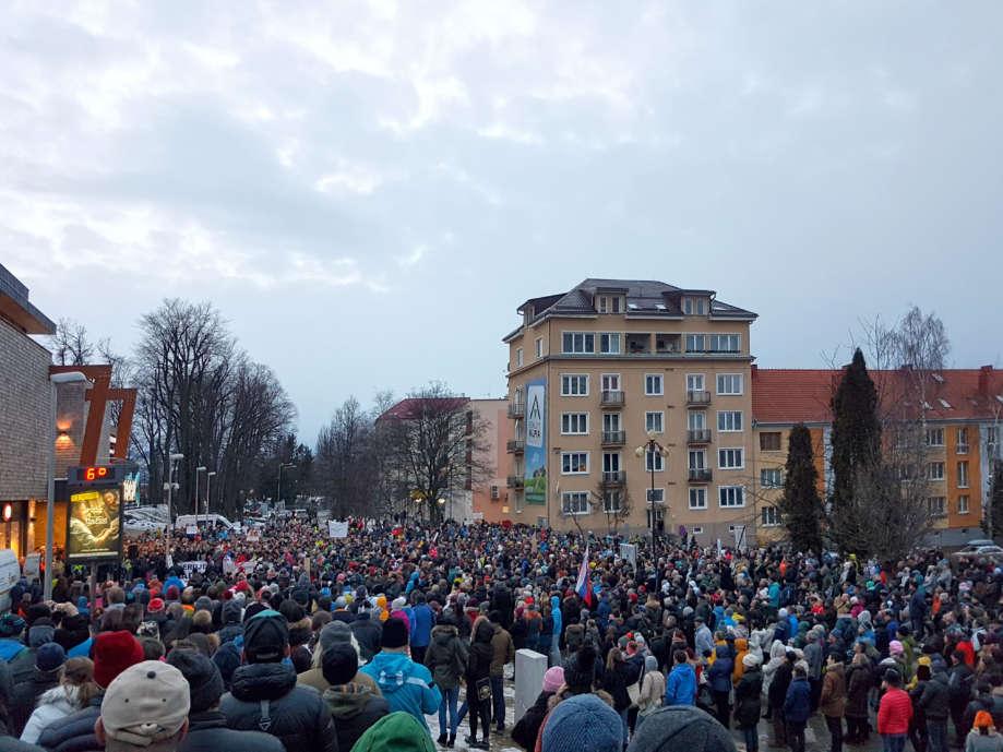 Pochod za slušné Slovensko Poprad